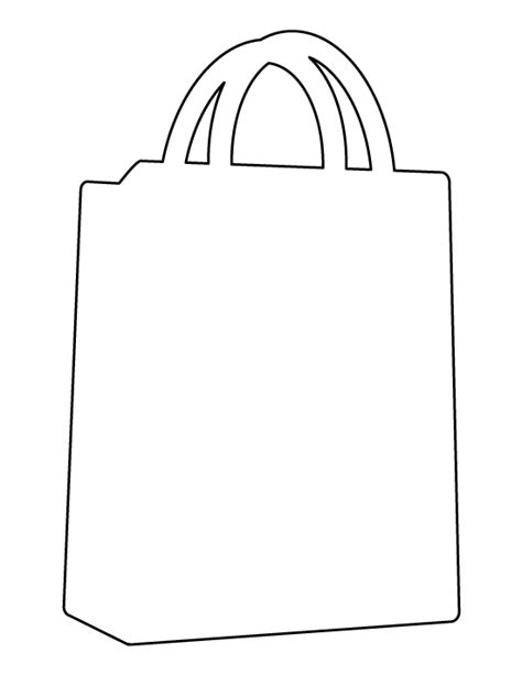 shopping bag pattern use the printable outline for crafts