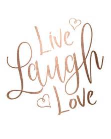 live laugh and gold foil print printable wall live laugh
