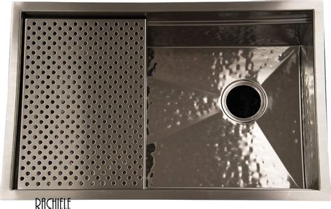 hammered stainless steel kitchen sink custom made stainless steel mount and workstation