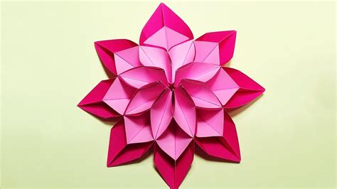 different origami flowers unique flower in origami style 3 modifications of paper