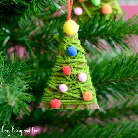 tree ornaments yarn wrapped tree ornaments easy peasy and