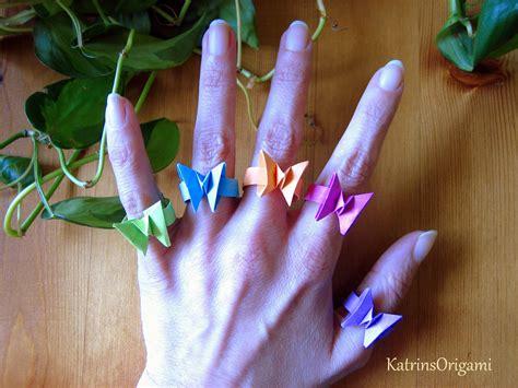 origami ring origami ƹӝʒ butterfly ring ƹӝʒ