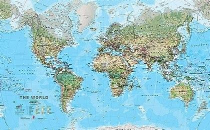 maps international carte murale g 233 ante non plastifi 233 e le monde physique en anglais