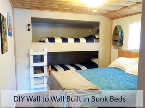 how to make built in bunk beds diy wall to wall built in bunk beds and a room remodel