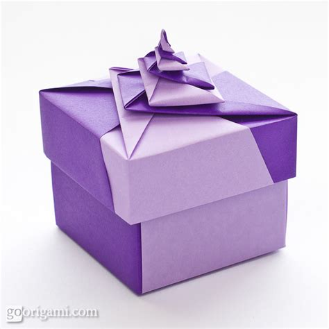 origami box in a box locked spiral square origami box go origami