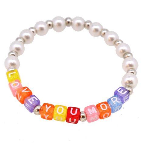 letter bead bracelets 6mm cube acrylic alphabet letter for jewelry