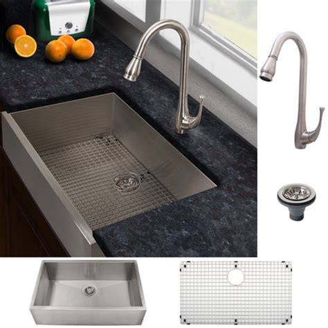 kitchen sink and faucet combinations ticor sinks ticor stainless steel kitchen sink and brushed nickel faucet combo by ticor