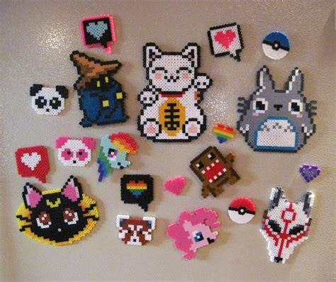 cool melty bead designs perler bead magnets by allisoneast on deviantart