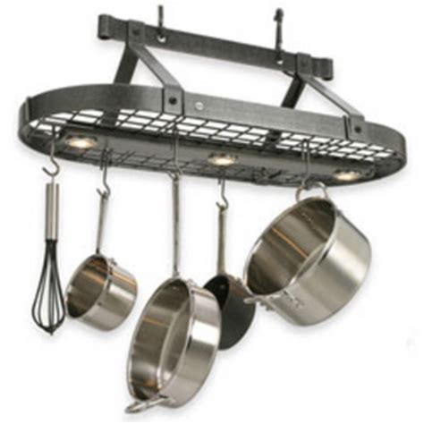 lighted hanging pot racks kitchen pot racks at kitchen accessories unlimited