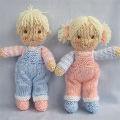 knit doll and dolls knitting pattern instant by dollytime