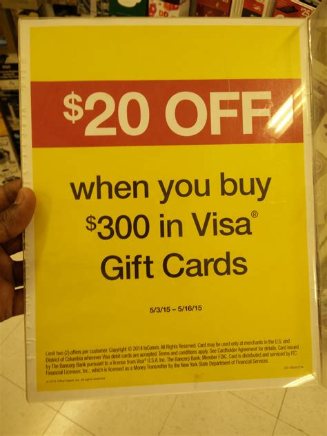 can you make purchases with a visa gift card deal 20 your purchase of 300 or move in visa
