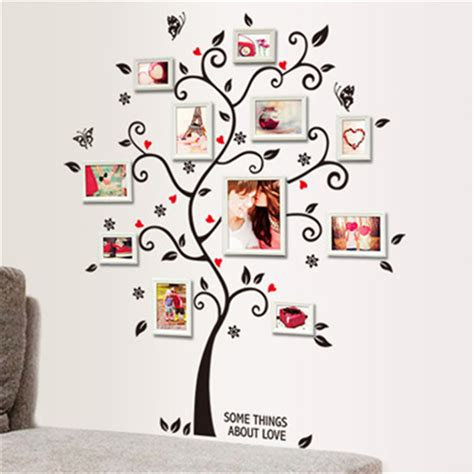photo frame wall stickers diy family photo frame tree wall sticker home decor living