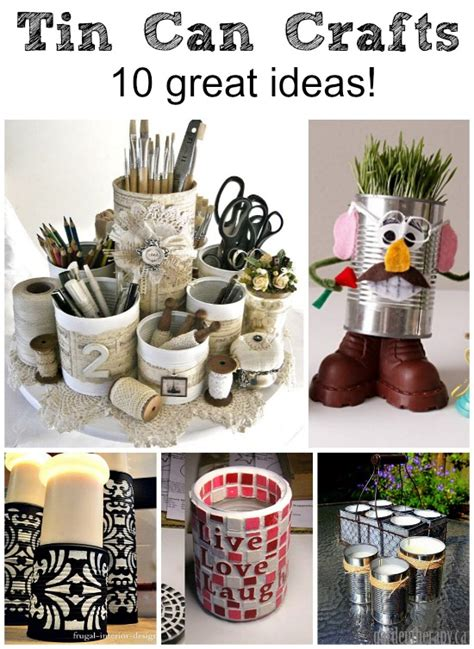tin can crafts projects cans crafts