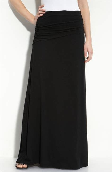 knit maxi skirts bobeau asymmetric knit maxi skirt in black start of color