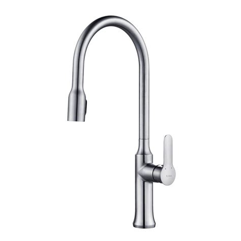 kraus kitchen faucet reviews kraus nola single handle concealed pull kitchen faucet with dual function sprayer in chrome