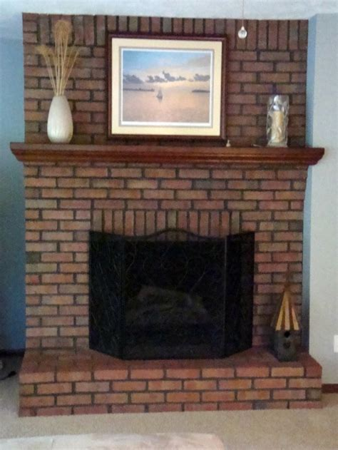 How To Paint An Old Brick Fireplace by Painting Brick Fireplace For Natural Look And Feel Brick