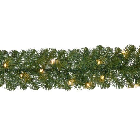 outdoor garland with lights home accents 18 ft pre lit noble fir garland with