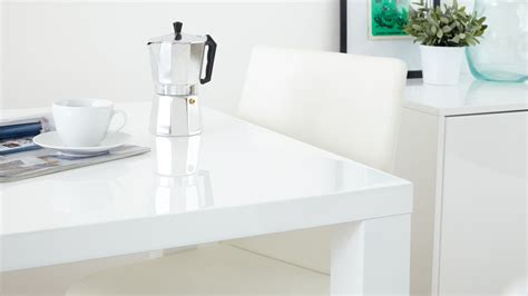 white table kitchen modern square white high gloss table 4 seater uk