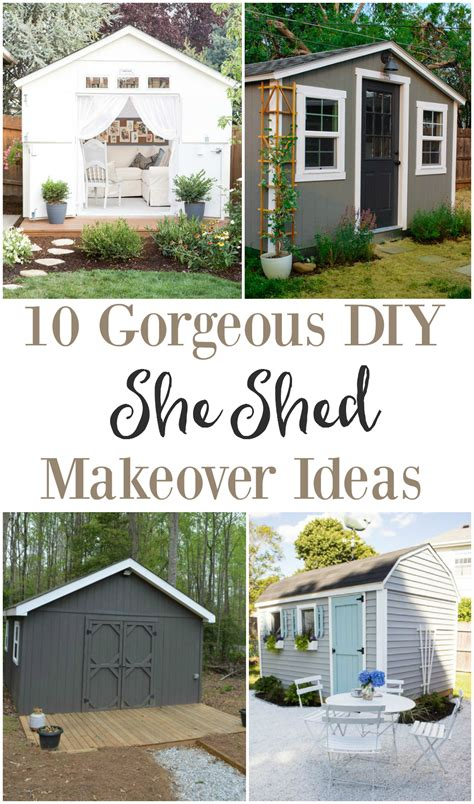 Home Exterior Design Tool she shed makeover ideas the weathered fox