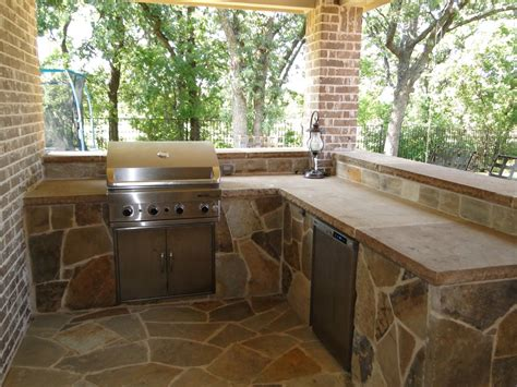 Kitchens With An Island outdoor kitchens dallas stone bar outdoor living keller tx