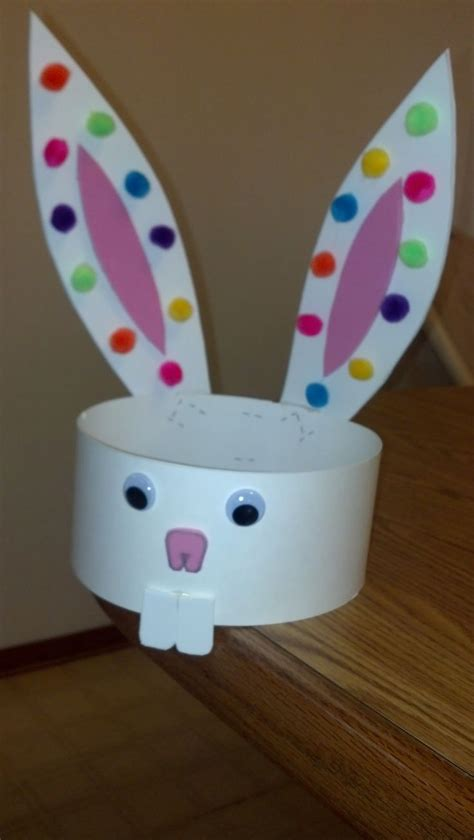 rabbit crafts for easy easter bunny ears headband craft easter preschool