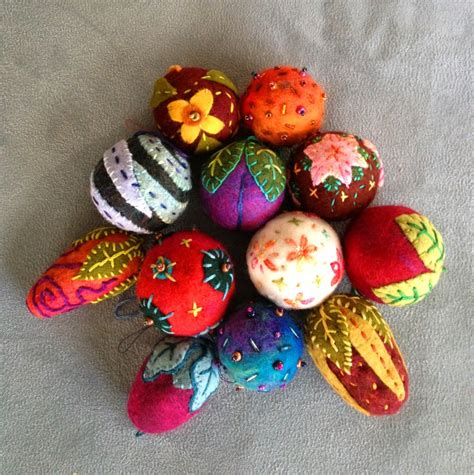 wool felt ornaments felted wool ornaments for the holidays judy coates perez