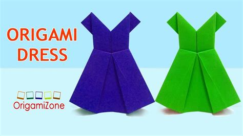 easy origami dress how to make origami dress easy origami paper dress how