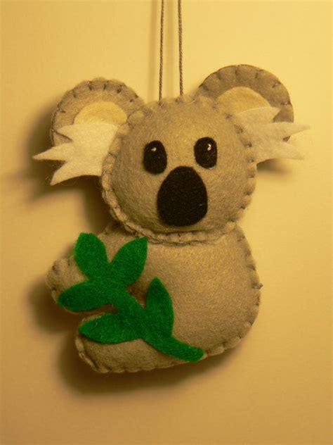 koala ornament felt ornament felt koala ornament ornaments