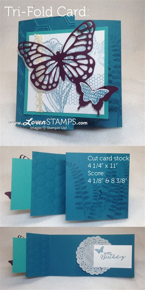 how to make tri fold cards quot try quot something new with a a tri fold card lovensts