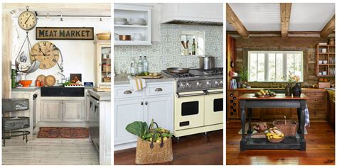 country living decor 18 farmhouse style kitchens rustic decor ideas for kitchens