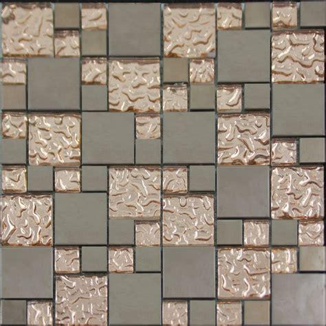 designer kitchen wall tiles copper glass and porcelain square mosaic tile designs