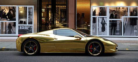Gold Ferrari 458 Spider   The Billionaire Shop
