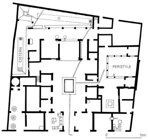 pompeian house plan floor plan of a pompeian house