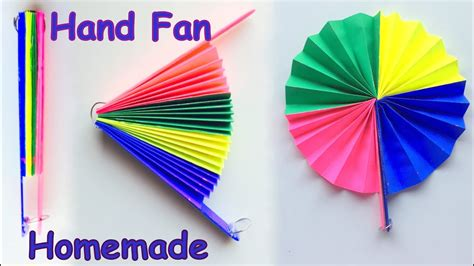 paper craft fan diy paper fan best out of waste