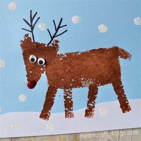 reindeer crafts for sponge painted reindeer craft for i crafty things