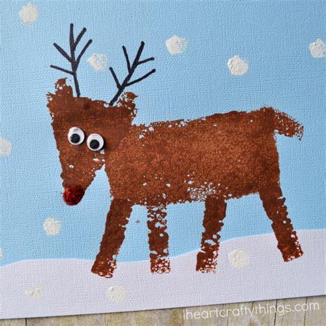 reindeer paper crafts sponge painted reindeer craft for i crafty things