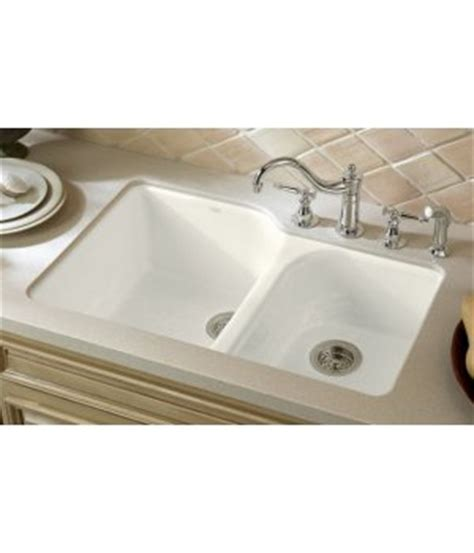 white undermount kitchen sink kohler k 5931 4u 0 executive chef cast iron bowl