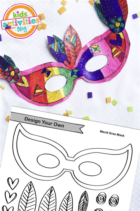 mask craft for printable mardi gras mask craft
