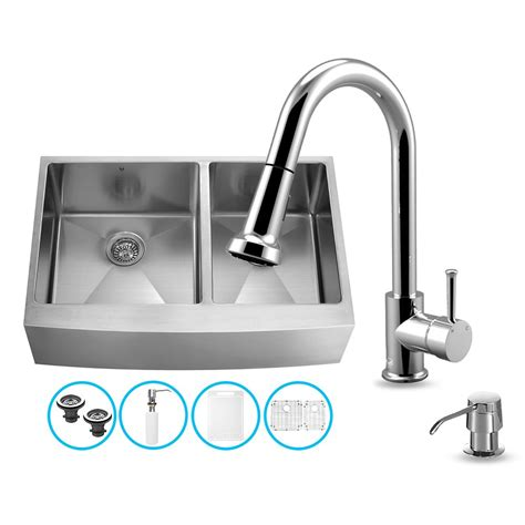 all in one kitchen sinks vigo vg15265 vigo all in one 36 inch farmhouse stainless