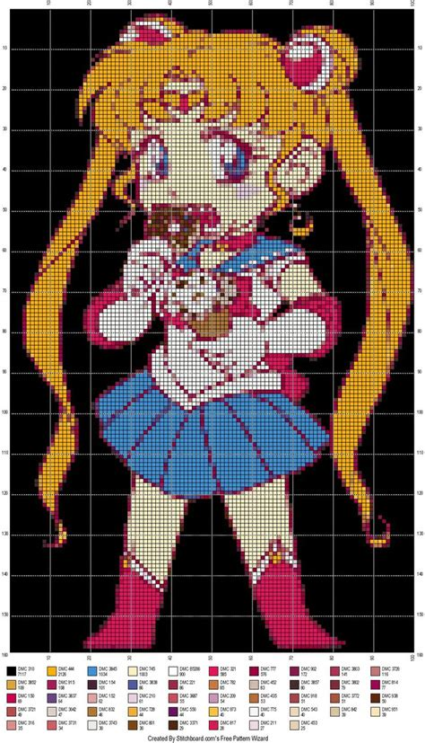 sailor moon knitting patterns 17 best images about cross stitch sailor moon on
