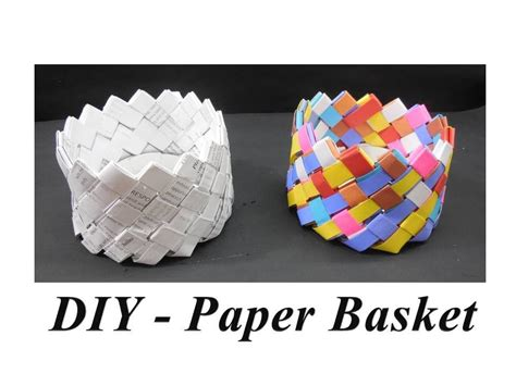 to do with paper diy how to make paper basket
