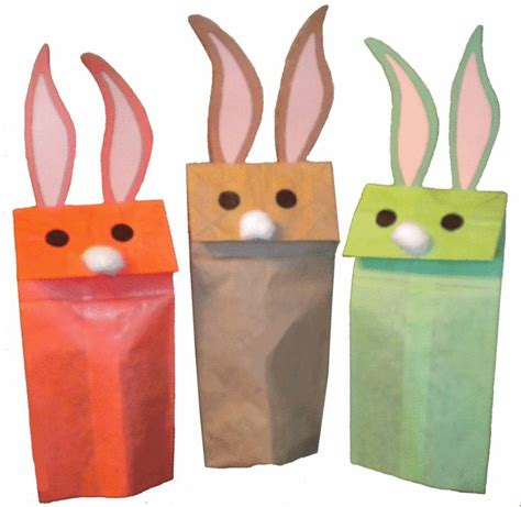 paper bag bunny craft paper bag bunny puppet crafts for work