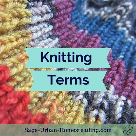 knitting terms knitting terms