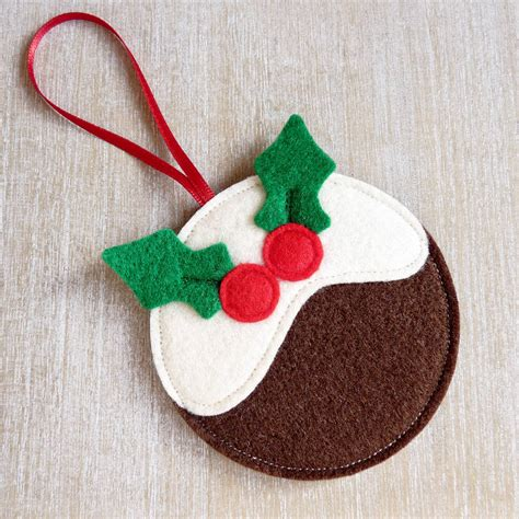 simple felt decorations handmade felt pudding decoration by be