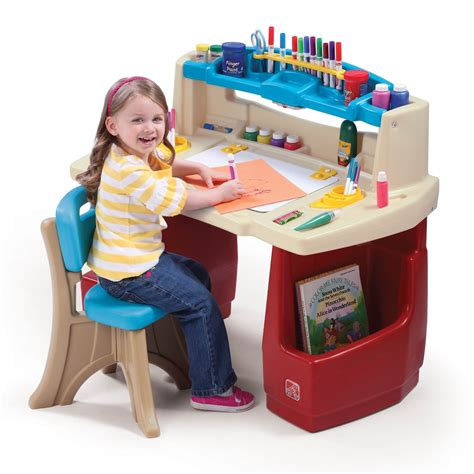 arts and craft sets for desk set deluxe playroom activity craft storage