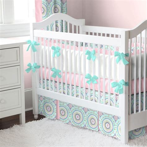 beautiful baby crib bedding aqua haute baby crib comforter carousel designs