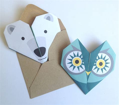 original origami origami notepaper set owl by lollipop designs