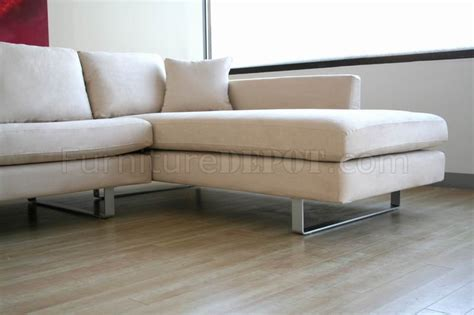 sectional sofa microfiber contemporary sectional sofa in white microfiber