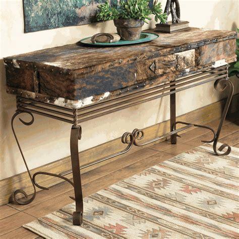 western sofa table western furniture cowhide sofa table lone western decor