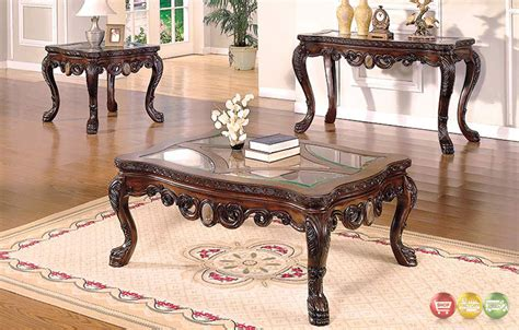 glass living room table sets ornate traditional living room occasional tables 3